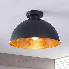 Zwart-gouden plafondlamp Lya 9620829