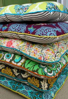 galettes de chaises colorées, design galette de chaise