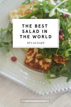 Best Salad Recipes, Vegetarian Recipes, Cooking Recipes, Healthy Recipes, Healthy Salads, Hallumi Recipes, Healthy Food, Paleo Meals, Vegetarian Options