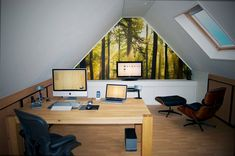 Attic workspace interior
