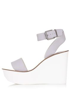 WAFFLE Two Part Wedge Sandals - Topshop