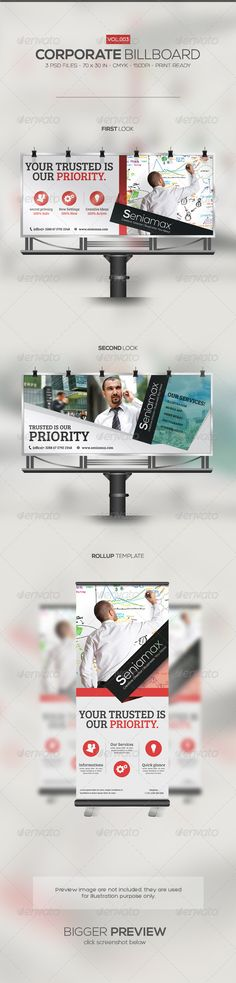 Corporate Billboard 003 — Photoshop PSD #company #template • Available here → https://graphicriver.net/item/corporate-billboard-003/5680629?ref=pxcr