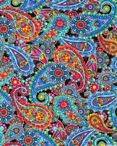 Kaleidoscope - Bejeweled Paisleys - Black/Gold