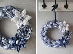 Fabric Wreath, Burlap Wreath, Christmas Wreaths, Christmas Crafts, Christmas Decorations, Diy And Crafts, Arts And Crafts, Deco Mesh Wreaths, Handmade Decorations