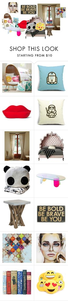 """""""My Room"""" by kaylaelise01 on Polyvore featuring interior, interiors, interior design, home, home decor, interior decorating, PBteen, Gufram, Haute House and Safavieh"""