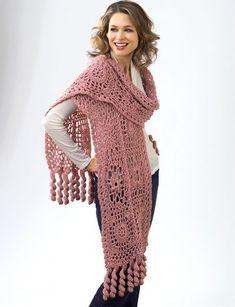 CrochetKim Free Crochet Pattern | Flower Motif Wrap