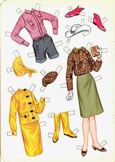 kleding paPIEREN POPPEN
