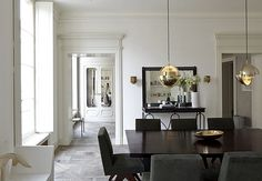 JOSEPH DIRAND'S PARIS APARTMENT. — Cumming & Co. #minimal #dining #wood #white