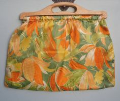 Vintage Fabric Purse Knitting Sewing Purse Bag by sewmuchfrippery