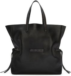 Buffed leather tote bag in black. Watersnake-embossed trim in grey throughout… - gold handbags, cute purses for cheap, purse designers *sponsored https://www.pinterest.com/purses_handbags/ https://www.pinterest.com/explore/handbag/ https://www.pinterest.com/purses_handbags/womens-purses/ https://www.stylewe.com/category/handbags-237