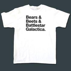 Dwight Schrute 'Bears, Beets, Battlestar Galactica' T-Shirt  Bootleg $10.00