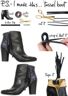P.S.-I made this...Tassel Boot  #PSIMADETHIS #DIY #ACCESSORIES #BOOTS #TASSEL