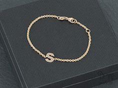 Red gold bracelet