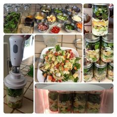 Salad in a jar pictures only