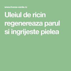 Uleiul de ricin regenereaza parul si ingrijeste pielea Green, Plant
