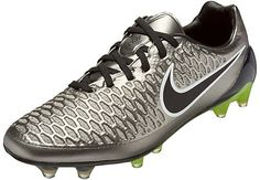 best service 06343 a91be Nike Magista Opus FG Soccer Cleats - Metallic Pewter   Black - SoccerPro.com