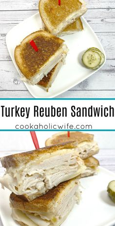 Whether you call it a turkey reuben or a rachel sandwich, this hearty and filling sandwich is sure to please. Deli turkey, swiss cheese, thousand island dressing and sauerkraut are between two toasty pieces of rye bread.