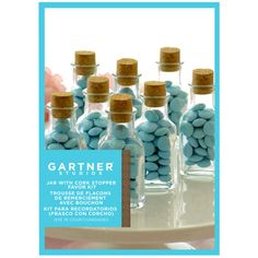 <div>These mini apothecary jars make cute party favors or tabletop decorations, especially when ...