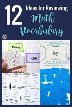 Math vocabulary practice is so important for students! These ideas for activities and games will help you find fun and engaging ways to practice with your students. Teaching Vocabulary, Vocabulary Practice, Vocabulary Activities, Math Games, Math Lesson Plans, Math Lessons, Math Classroom, Math Teacher, Math Literacy