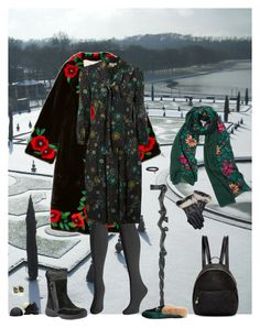"""""""stepping out in winter on Naboo (Aoife)"""" by shulabond ❤ liked on Polyvore featuring Gucci, WithChic, Avenue, NOVICA, Burberry, Stephen Dweck, Geox and STELLA McCARTNEY"""