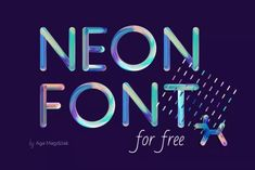 Neon Free PSD Font (Graphic) by Creative Fabrica Freebies · Creative Fabrica Cute Fonts, Pretty Fonts, Beautiful Fonts, Beautiful Patterns, Photoshop, Lettering, Typography, Banners, Branding And Packaging