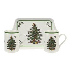 It wouldn't be Christmas without the iconic Spode Christmas Tree collection. The epitome of fine holiday entertaining since its introduction in this beloved pattern beautifully captures the festive spirit of the season. Origin Of Christmas, Christmas Tree Collection, Spode Christmas Tree, Christmas Dishes, Mugs Set, Table Settings, 3 Piece, Gifts, Green