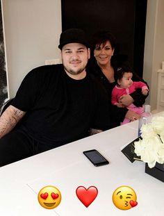 Kim Kardashian & Kris Jenner visit single Rob Kardashian and Baby Dream