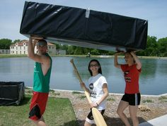 Paddle - for cardboard boats of course! A yearly activity in the Physical Science class.