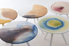 Takt Project utilizes natural dyes in bespoke plastic table collection #dye #diy