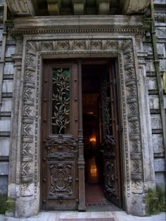 *Doors of Bucharest* Monteoru House, Bucharest, Romania Cool Doors, Unique Doors, Stairs Window, Doorway, Beautiful Castles, Beautiful Buildings, Beautiful Places, Grand Entrance, Entrance Doors