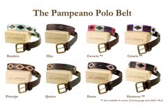 pampeano leather polo belts. Beautiful hand stitched designs. www.pampeano.co.uk