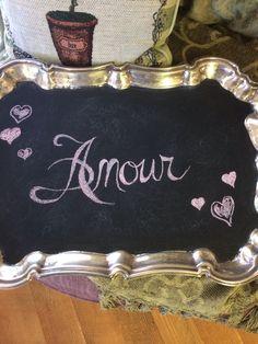Valentines chalkboard quote