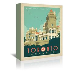 "East Urban Home Toronto C Loma Vintage Advertisement on Wrapped Canvas Size: 7"" H x 5"" W x 1.5"" D"