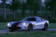 The 2016 Dodge Viper ACR with the available Extreme Aero package produces the highest aerodynamic downforce of any production car. New Dodge Viper, Top 10 Sports Cars, Viper Acr, Car Buyer, Us Cars, Ford Motor Company, Future Car, Car Car, Cars