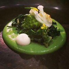 Verduras con mole de brocolí, chef Enrique Olvera