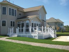 Railings add a finishing touch and extra safety to your deck.  Consider a new railing for the spring!