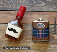 the classic flask for your groomsmen. | CHECK OUT MORE IDEAS AT WEDDINGPINS.NET | #bridesmaids