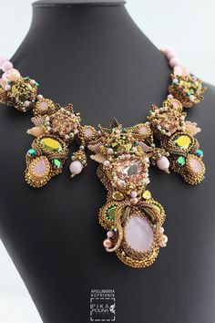 Eden Necklace with #swarovskicrystals