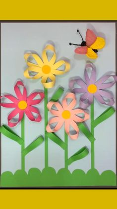 Flower Crafts Kids, Paper Flowers For Kids, Spring Crafts For Kids, Holiday Crafts For Kids, Paper Crafts For Kids, Spring Flowers Art For Kids, Craft Flowers, Easy Origami Flower, Simple Origami