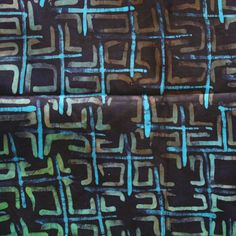 African Fabric- Indigo, Green and Turquoise Batik, Hand-dyed Tie Dye Fabric, Nigerian Adire, 1 Yard Bundle Reno, African Fabric, African Fashion, Indigo, Modern Design, Craft Projects, How To Draw Hands, Tie Dye