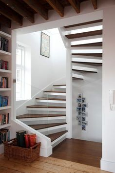42 Inspiring Loft Stair Design Ideas For Space Saving - Loft conversion stairs are an integral part of any conversion project so in this article we'll look at some of the specific building regulations regar. Small Staircase, Loft Staircase, Tiny House Stairs, Modern Staircase, Spiral Staircase, Stairs In Small Spaces, Space Saving Staircase, Traditional Staircase, Staircase Ideas