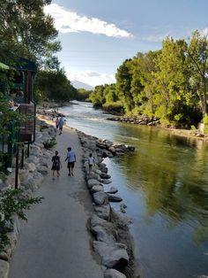 Salida Colorado river walk Salida Colorado, Steamboat Springs Colorado, Colorado Hiking, Colorado River, Colorado Vacations, Places To Travel, Places To See, River Walk, Outdoor Fun