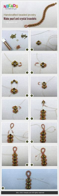 Pearls and Crystals Bracelet Tutorial