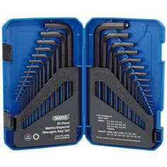 Draper 33894 Metric/Imperial Combined Long Pattern Hexagon Key Set - 30 Pieces for sale online Draper Tools, Tiling Tools, Router Cutters, Confined Space, Moraira, Tools And Equipment, Settee, Diy Tools, Gaming