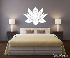 Use Ceiling Light Fittings for a Bright and Beautiful Home Vinyl Decor, Vinyl Wall Decals, Wall Decor, Bedroom Wall, Bedroom Decor, House Painting Cost, Flower Wall Stickers, Creative Walls, Corner Designs