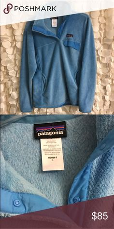 Patagonia Fleece Light blue, in excellent like new condition, worn less than 10 times Patagonia Jackets & Coats