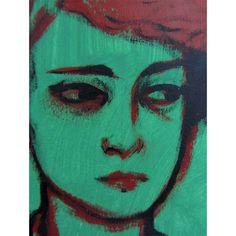 "Oil Painting Punk Portrait Original ""Discordant"" by Amy Abshier Reyes SALE. , via Etsy."