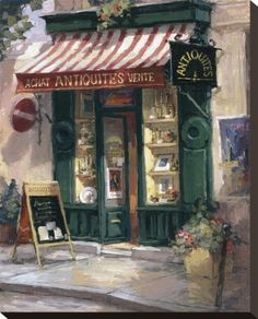 Antiquities, Paris Stretched Canvas Print by George Botich at Art.com