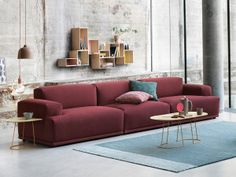 Connect Sofa by Muuto is a modular seating system based on the idea of finding perfect proportional connections between the different components of the sofa. Designed by Anderssen & Voll. Connect the modules to create a sofa of your choice. Contemporary Furniture, Cool Furniture, Furniture Design, Sofa Design, Scandinavian Chairs, Modul Sofa, Clean Sofa, Muuto, Three Seater Sofa