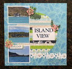Vacation Scrapbook, Disney Scrapbook, Scrapbooking Layouts, Scrapbook Pages, Therapy Tools, Creative Memories, Circle Pattern, Tropical, Islands
